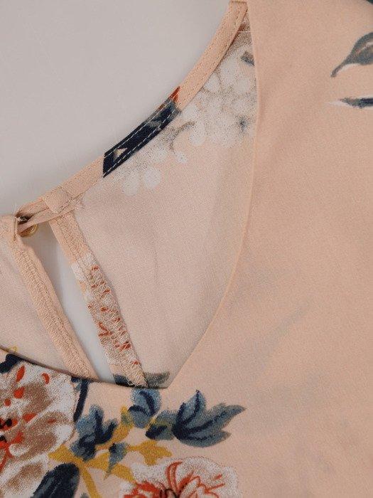 Romantyczna bluzka z ozdobną baskinką 19499