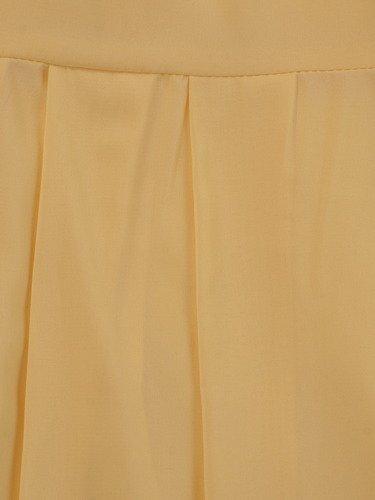 Rozkloszowana sukienka Izaura IX, kreacja w kolorze żółtym.