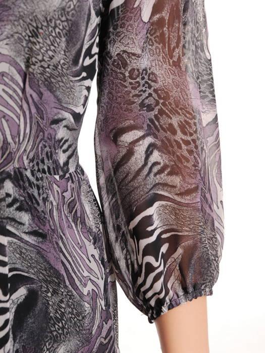 Rozkloszowana sukienka, modna kreacja w oryginalny wzór 30843