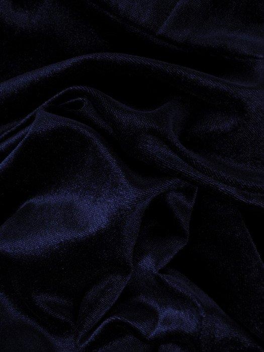 Rozkloszowana sukienka z aksamitu, kreacja w kolorze granatowym 18894