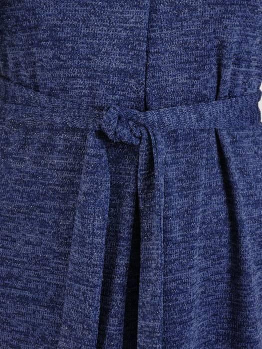 Rozkloszowana sukienka z dzianiny, kreacja z paskiem 27218