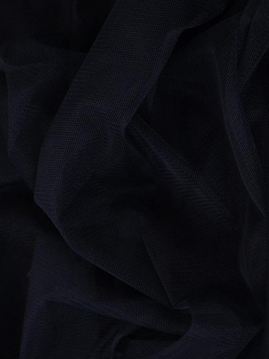 Rozkloszowana sukienka z tiulu i gipiury, granatowa kreacja na wesele 22490