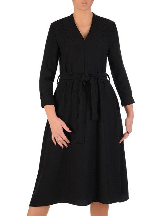 Rozkloszowana sukienka z wiązaniem w talii 18463.