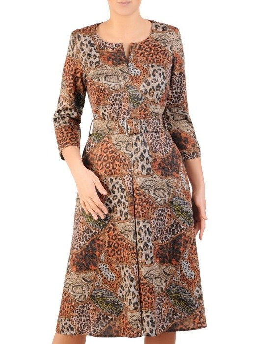 Rozkloszowana sukienka z zamkiem przy dekolcie 24175