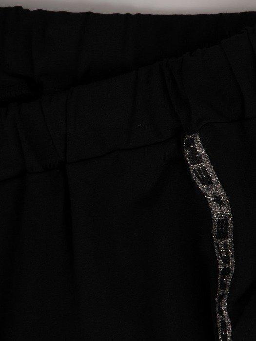 Spódnica dresowa z połyskującymi paskami 24719