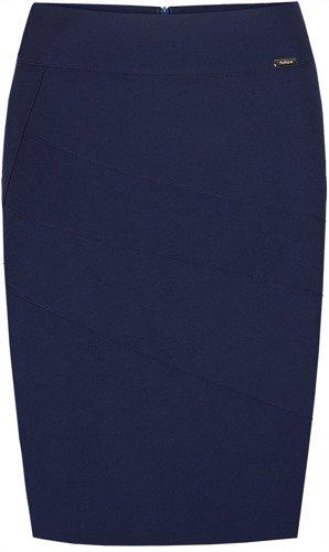 Spódnica ołówkowa z ozdobnymi przeszyciami Pola III.