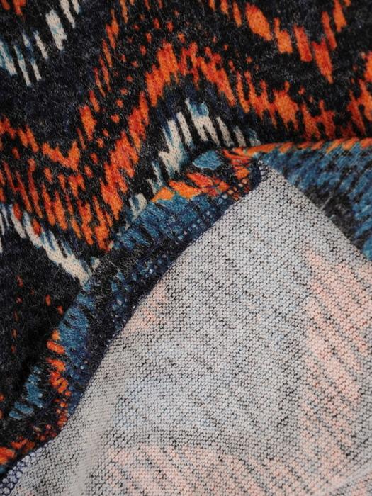 Sukienka codzienna, prosta kreacja w geometrycznym wzorze 23170