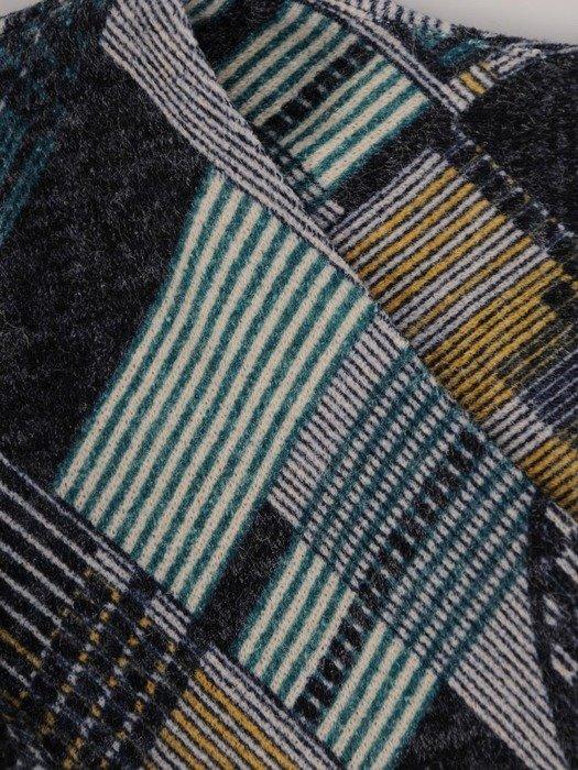 Sukienka codzienna, prosta kreacja w geometrycznym wzorze 23847