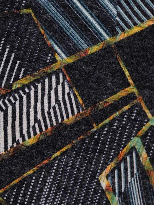 Sukienka codzienna, prosta kreacja w geometrycznym wzorze 27545