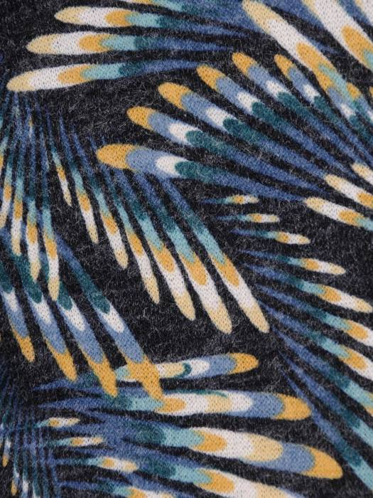 Sukienka codzienna, prosta kreacja w geometrycznym wzorze 27546