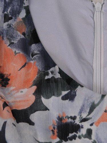 Sukienka damska 15313, zwiewna kreacja w kwiaty.