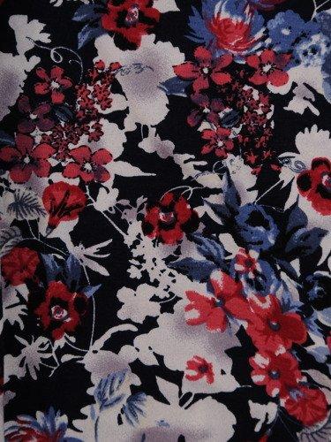 Sukienka damska 16691, dzianinowa kreacja w kwiaty.