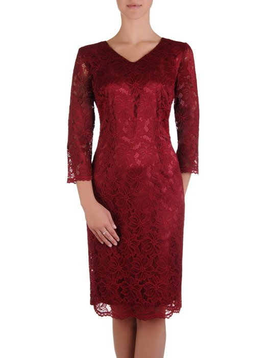 Sukienka damska 16918, koronkowa kreacja na wesele.
