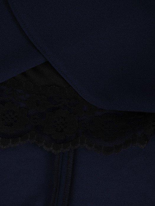 Sukienka damska 18597, granatowa kreacja w kopertowym fasonie.