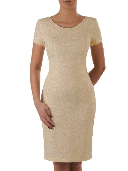 Sukienka damska Aurela II, elegancka kreacja z tkaniny żakardowej.