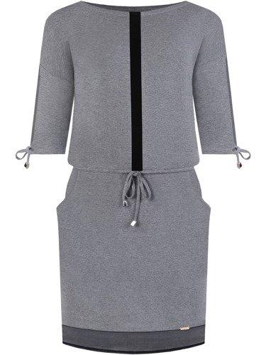 Sukienka damska Bettina II, jesienna kreacja z kieszeniami.