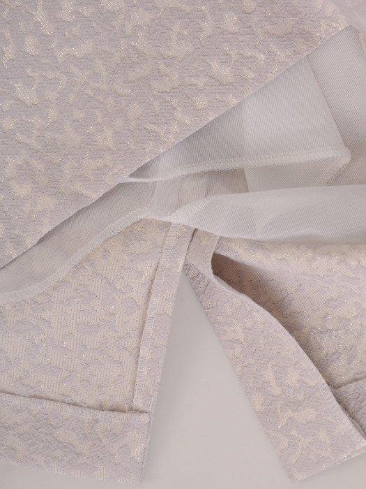 Sukienka damska Elfryda VII, elegancka kreacja z tkaniny żakardowej.
