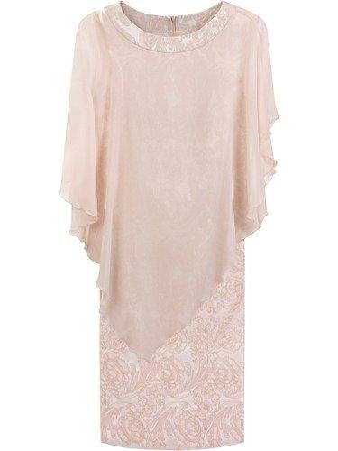 Sukienka damska Fransiska II, elegancka kreacja w fasonie maskującym brzuch.