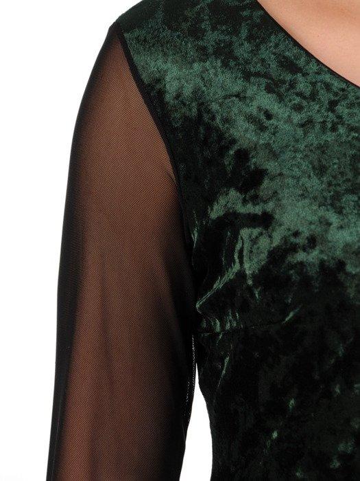 Sukienka damska Holi II, elegancka kreacja z aksamitu.
