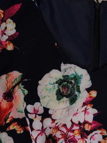 Sukienka damska Klarens I, wiosenna kreacja w kwiaty.