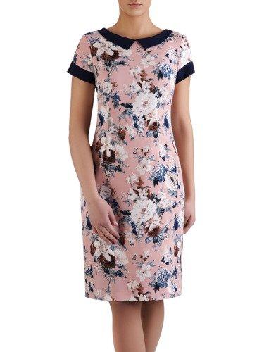 Sukienka damska Telinda V, elegancka kreacja z modnym kołnierzykiem.