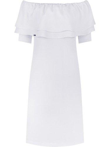 Sukienka damska Violetta V, letnia kreacja z odkrytymi ramionami.