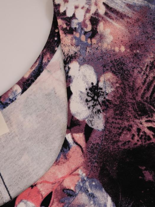 Sukienka damska, rozkloszowana kreacja z dzianiny 21376.