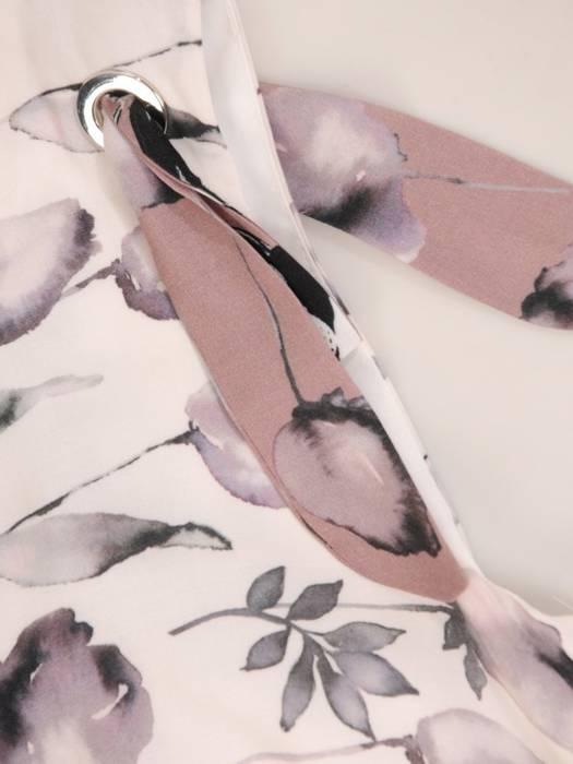 Sukienka damska w kwiaty, kreacja w luźnym fasonie 29259