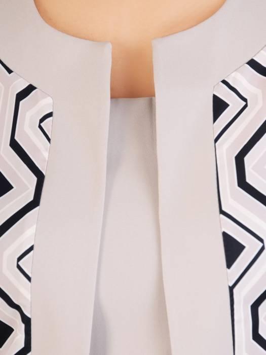 Sukienka damska z tkaniny, kreacja z imitacją żakietu 29880