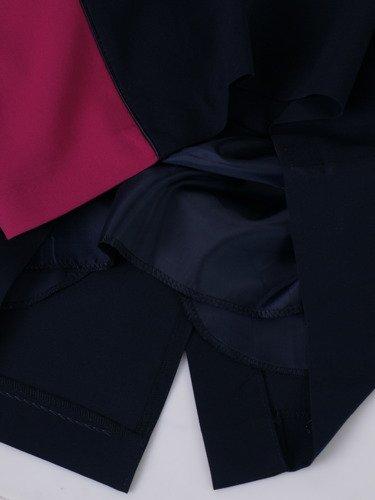 Sukienka dwukolorowa Sulima, wyszczuplająca kreacja wizytowa.