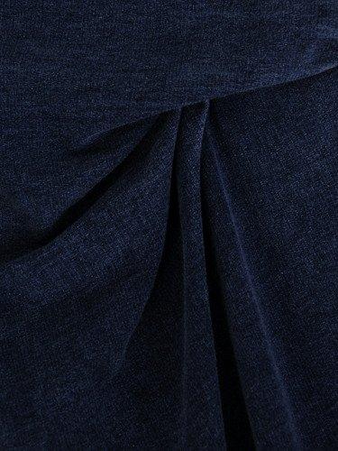 Sukienka dzianinowa Edwarda, kreacja z marszczeniami wyszczuplającymi brzuch.