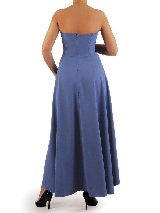 Sukienka gorsetowa, kreacja z dłuższym tyłem 24909