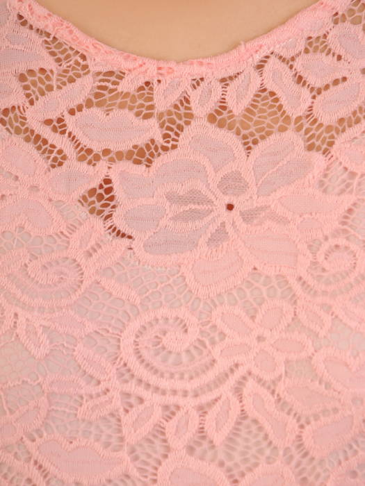 Sukienka koktajlowa maksi, kreacja z koronkową górą 30878