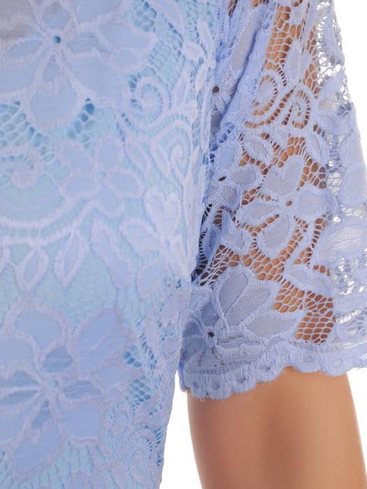 Sukienka koktajlowa maksi, kreacja z koronkową górą 30887