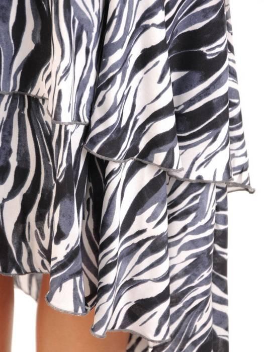 Sukienka koktajlowa, zwiewna kreacja w oryginalnym fasonie 30175