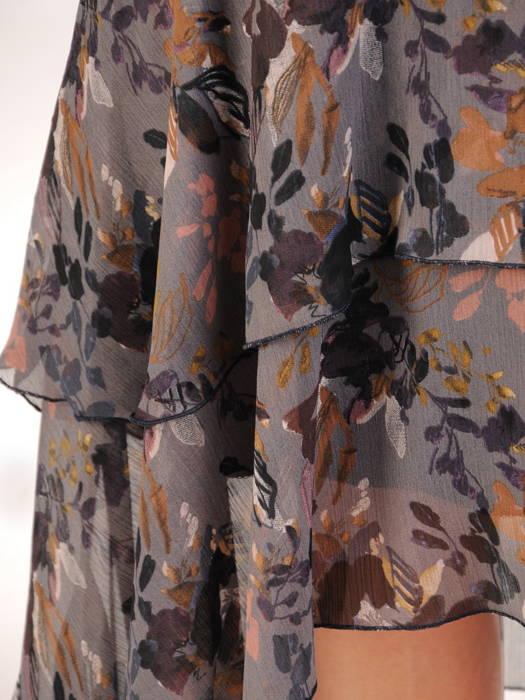 Sukienka koktajlowa, zwiewna kreacja w oryginalnym fasonie 30716