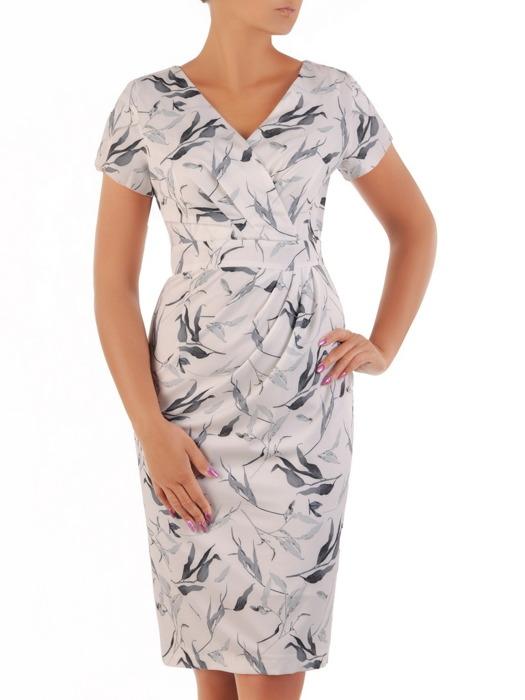 Sukienka kopertowa, modna kreacja w fasonie maskującym brzuch i biodra 21587.
