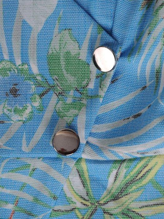 Sukienka kopertowa, wiosenna kreacja z łączonych tkanin 19780.