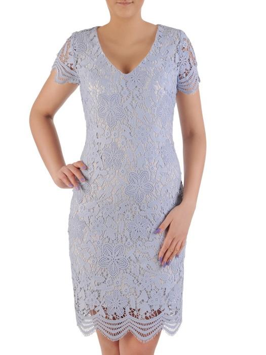 Sukienka na wesele, elegancka kreacja z gipiury 20145.