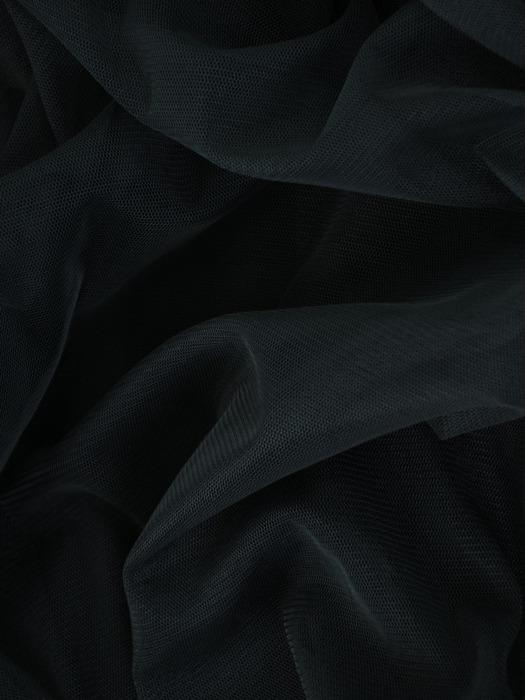 Sukienka o długości maxi, kopertowa kreacja z koronki i tiulu 22482