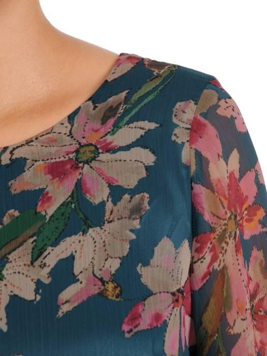 Sukienka o trapezowym kroju, kreacja z falbanami 27292
