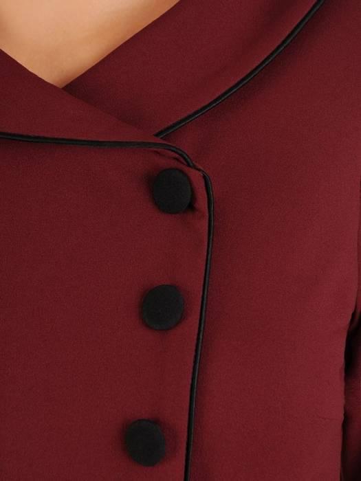 Sukienka rozkloszowana, jesienna kreacja z paskiem 27501