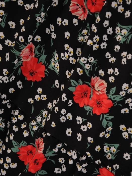 Sukienka szyfonowa, modna kreacja z wiązaniem na dekolcie 27955