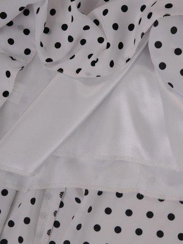 Sukienka trapezowa Kamila VIII, rozkloszowana kreacja podkreślająca talię.