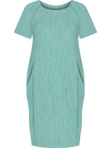 Sukienka tuba Mirona LXXIV, wyszczuplająca kreacja maskująca brzuch.