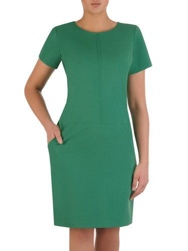 Sukienka tuba Mirona X, wyszczuplająca kreacja maskująca brzuch.