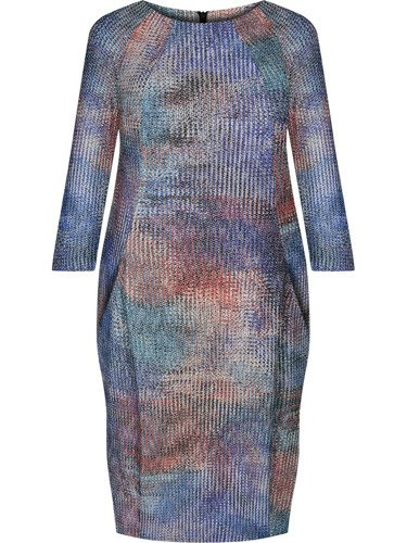 Sukienka tuba Mirona XLIII, oryginalna kreacja maskująca brzuch.
