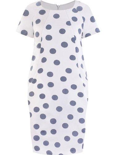 Sukienka tuba Mirona XXIII, wyszczuplająca kreacja maskująca brzuch.