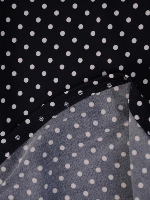 Sukienka w groszki, kopertowa kreacja z dzianiny 20831.