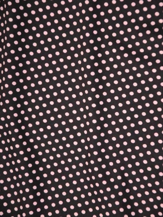 Sukienka w groszki, prosty fason z dekoltem w serek 28790